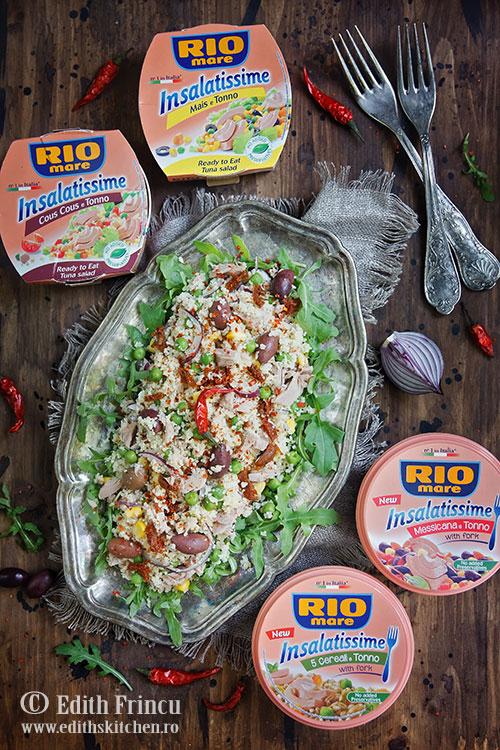Salata cu cous cous 2 - Salata cu ton si cous cous