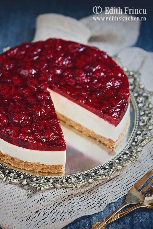 cheesecake cu visine 1 - Cheesecake cu visine