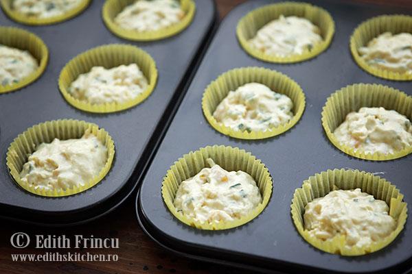 muffins cu porumb in tava - Muffins cu porumb si chives