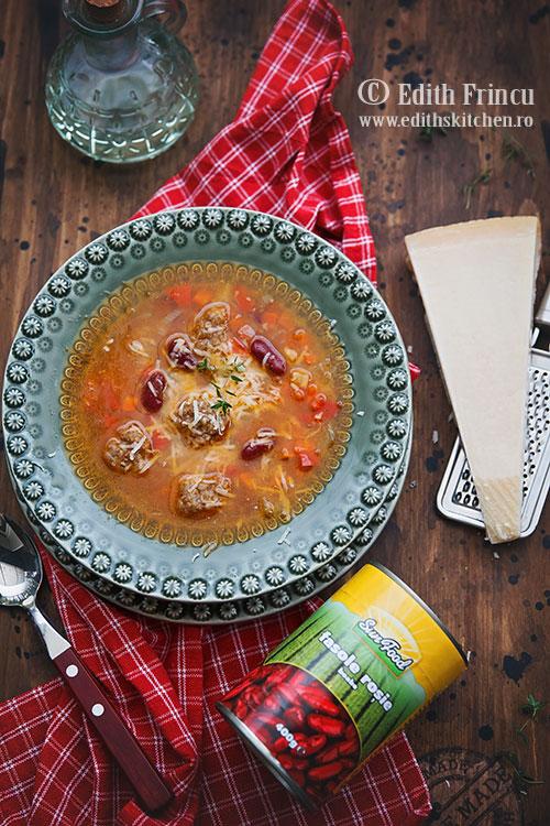 supa minestrone cu perisoare 1 - Supa minestrone cu perisoare