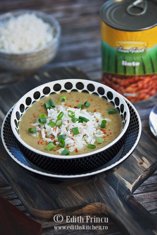 supa crema de linte cu cocos Sun Food - Supa crema de linte cu cocos