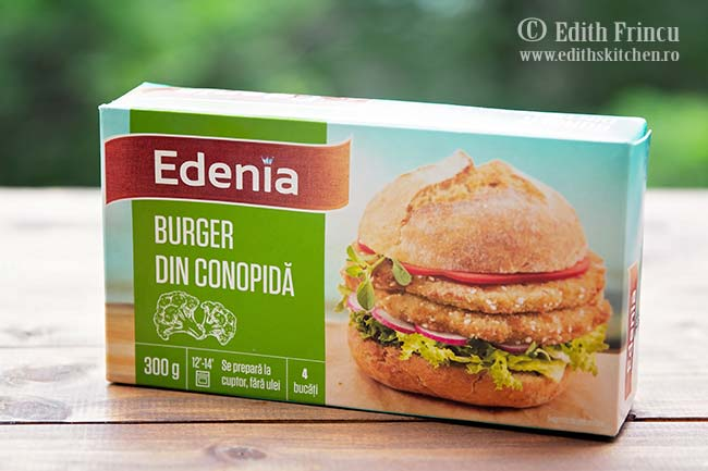 burger de conopida Edenia - Burger de conopida cu ceapa caramelizata