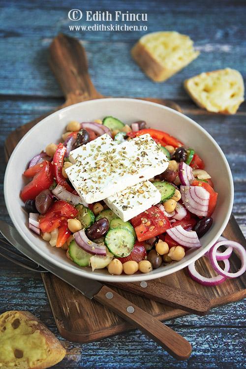 salata greceasca cu naut - Salata greceasca cu naut