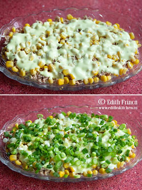 preparare salata cu ton - Salata poloneza cu ton si porumb