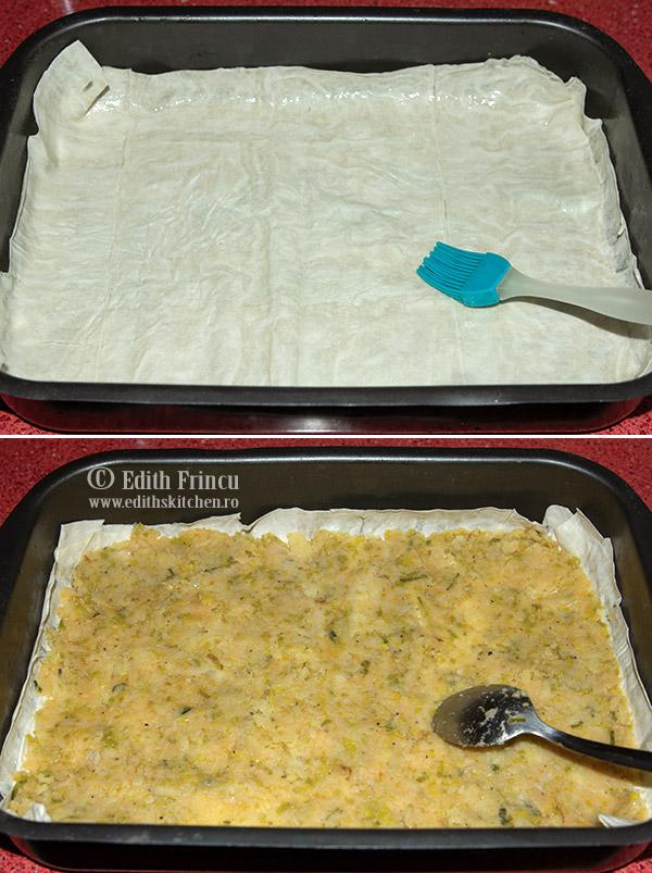 placinta cu praz in tava - Placinta cu praz si cartofi
