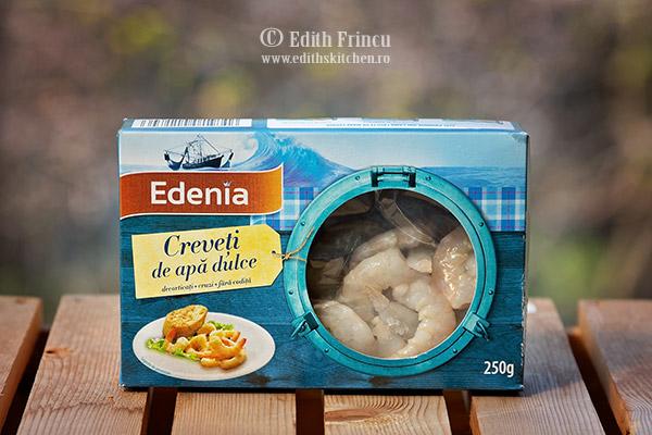 Creveti de apa dulce Edenia - Creveti saganaki