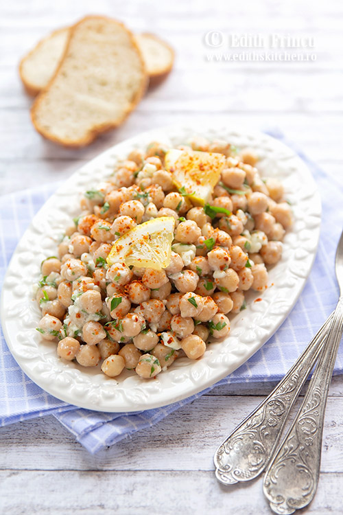 salata de naut cu branza si patrunjel - Salata de naut cu branza si patrunjel