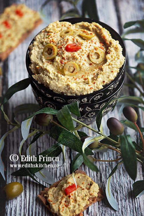 hummus cu masline verzi - Hummus cu masline verzi