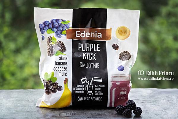 smoothie Edenia - Budinca de chia cu afine si mure