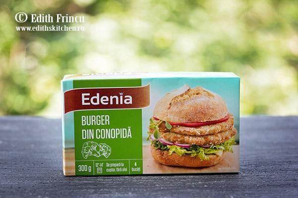 burger de conopida Edenia - Burger de conopida cu pere caramelizate