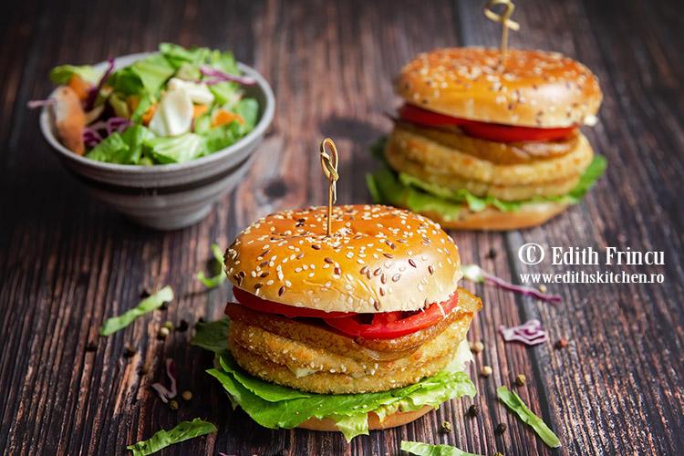 burger de conopoda cu pere caramelizate 1 - Burger de conopida cu pere caramelizate