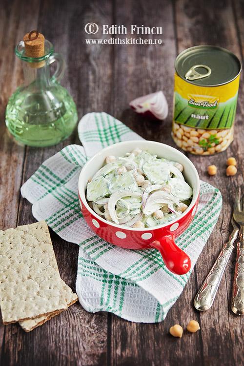 salata de castraveti cu naut si smantana 2 - Salata de castraveti cu naut si smantana