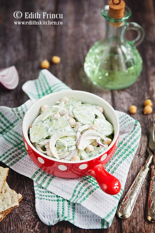 salata de castraveti cu naut si smantana - Salata de castraveti cu naut si smantana