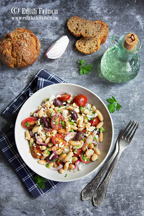 salata mediteraneeana cu fasole 1 - Salata mediteraneeana cu fasole