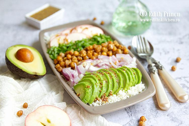 salata cu conopida si naut crocat 4 - Salata cu conopida si naut crocant