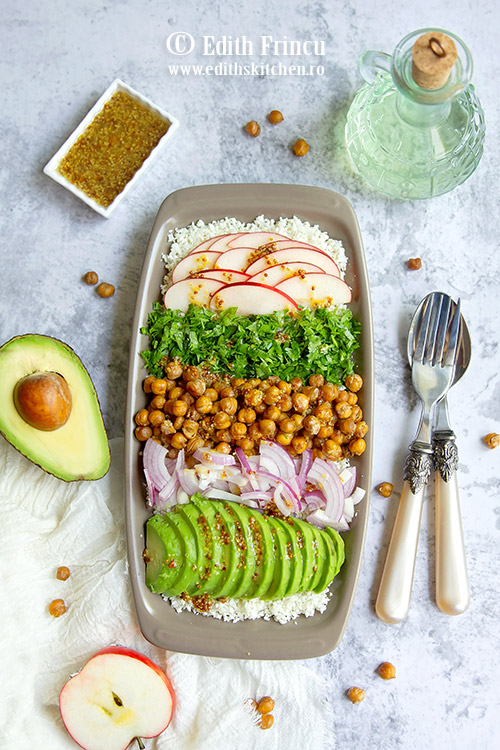 salata cu conopida si naut crocat - Salata cu conopida si naut crocant