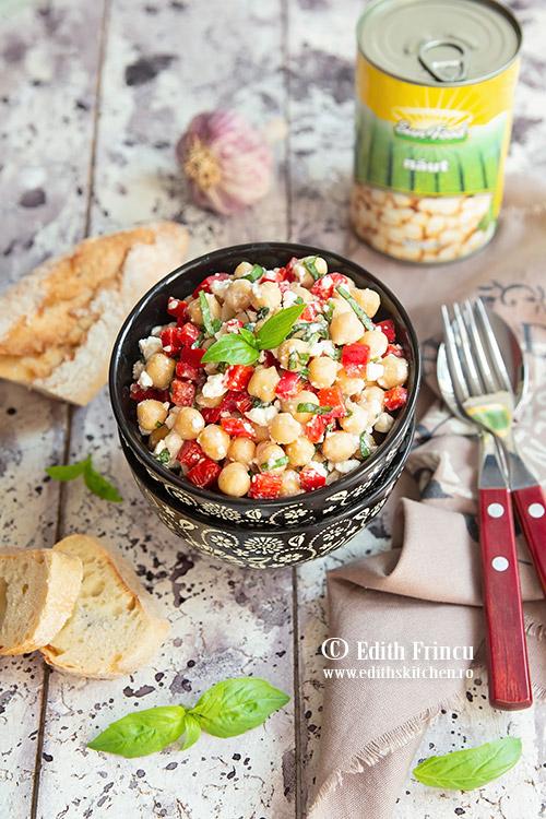 salata de naut cu ardei copt 2 - Salata cu naut si ardei copt