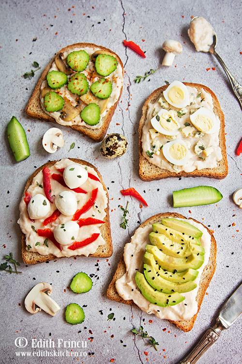 sandvisuri cu hummus - Sandvisuri cu hummus