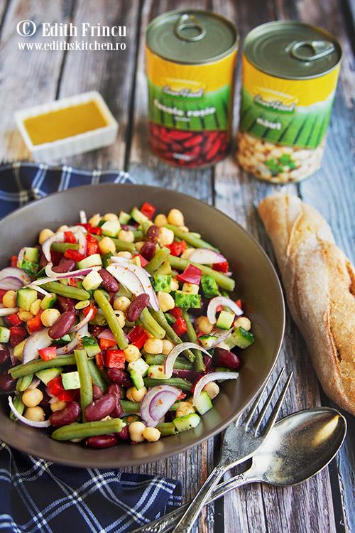 Salata cu fasole si naut 1 - Salata cu fasole si naut