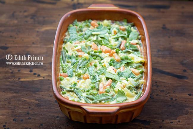 gratin cu legume in tava - Gratin cu legume si spanac