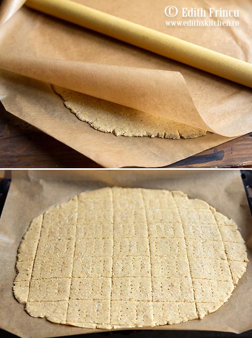 Crackers cu naut preparare 1 - Crackers cu naut si usturoi