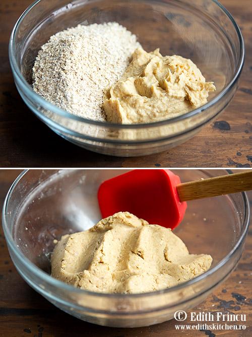 Crackers cu naut preparare - Crackers cu naut si usturoi