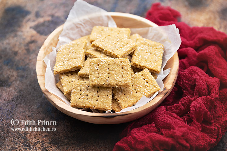 crackers cu naut si usturoi 1 - Crackers cu naut si usturoi