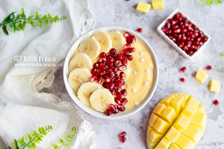 smoothie bowl 2 - Smoothie bowl cu mango si ananas