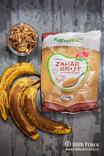 banana bread ingrediente - Banana bread cu nuca si ciocolata