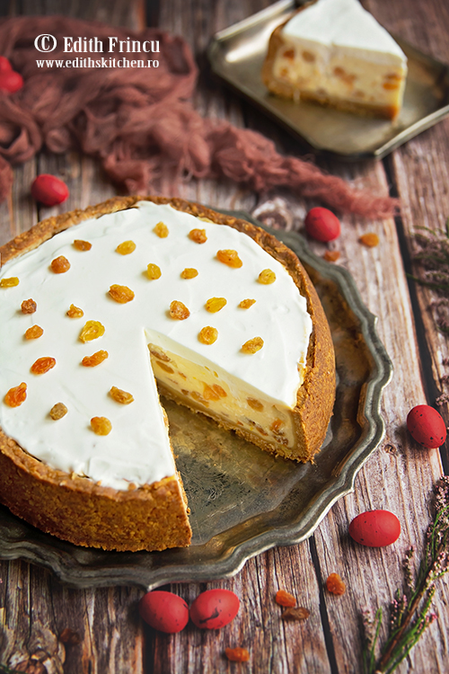 cheesecake cu stafide 1 - Cheesecake cu stafide