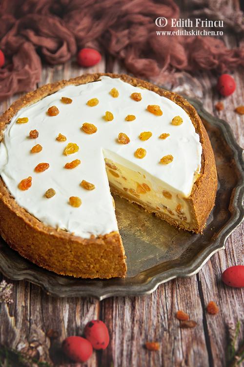 cheesecake cu stafide - Cheesecake cu stafide