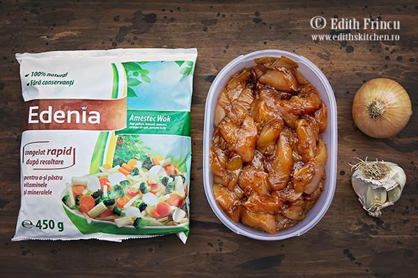 pui si mix pentru wok edenia - Pui cu legume in stil asiatic