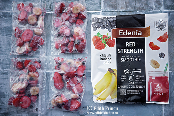 Smoothie red Edenia - Smoothie cu capsuni si afine