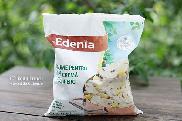 amestec supa crema de ciuperci Edenia - Supa crema de ciuperci cu ceapa crocanta