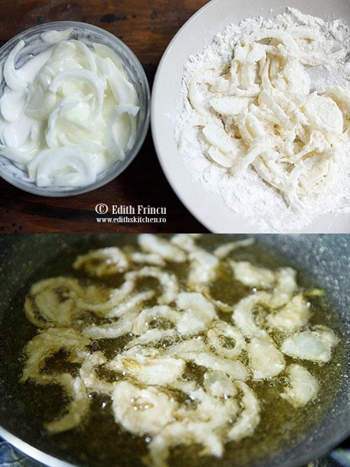 ceapa crocanta - Supa crema de ciuperci cu ceapa crocanta