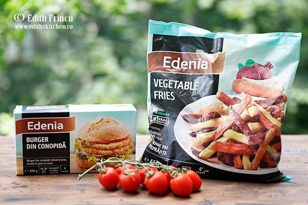 burger de conopida Edenia - Burger de conopida cu legume