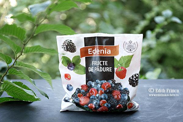 fructe de padure Edenia - Mini tarte cu branza si fructe de padure